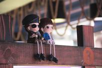 可爱情侣人偶玩偶摆件