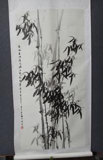 小竹林水墨画