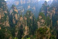 悬崖石峰景观