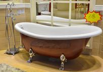 褐色简谱的浴缸