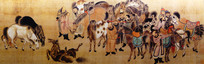 《蒙古宗王狩猎图》 元代