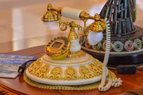 欧式高贵的瓷器电话机