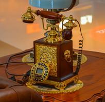 欧式高贵的手摇电话机