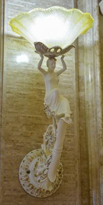 欧式人像雕刻壁灯