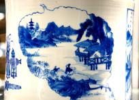 青花瓷中国山居生活图