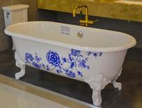 青花花纹浴缸