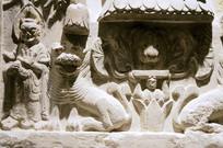 石雕吉兽人物雕像