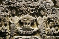 石雕群佛像