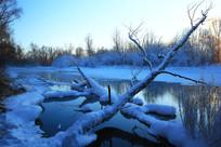 不冻河的冬季风光