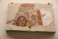 公元前1世纪卡耶特法奥宴会场景壁画残片