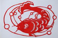 鱼跃剪纸吉祥图案