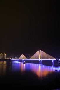 重庆云阳长江大桥夜景