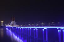 重庆云阳长江大桥夜景全景