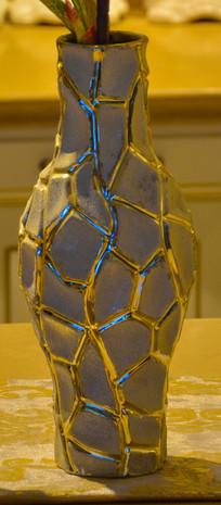 装饰工艺品龟裂花纹瓷瓶