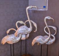 装饰工艺品火烈鸟雕塑