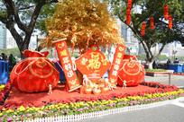 2016猴年荔湾花市福袋背景板