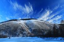 冰河山脉雪景