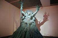 古代神农青铜雕像