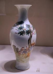 民国时期仿居人堂花瓶