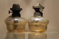 民国时期可调控玻璃灯盏