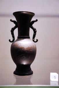 民国时期双耳铜瓶