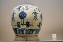 清民国青花折枝花纹瓷罐
