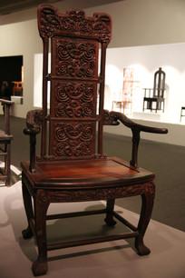 实木雕刻靠背椅