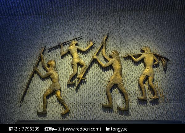 远古人生活雕像狩猎图片