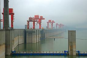 著名的长江三峡大坝景观