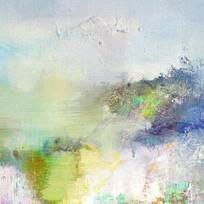 抽象油画写意山水画