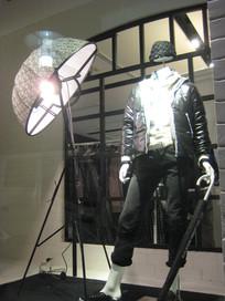 橱窗店特色模特