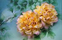 瓷版画清风明月牡丹花
