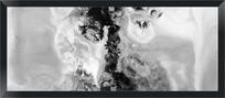 黑白装饰画抽象画无框画