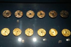 明代圆圈纹金冥币