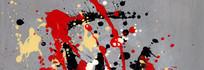 涂鸦现代简约风格抽象油画高清大图
