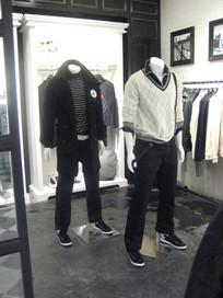 一组服装模特