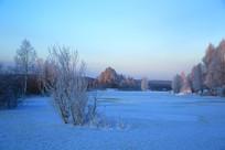 冰河冬季景观