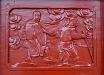 木雕罗汉壁画渡海