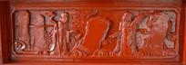 木雕罗汉壁画结伴