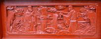 木雕罗汉壁画问候
