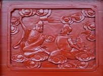 木雕罗汉壁画云间