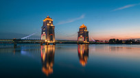 万福大桥夜景