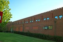 美国俄克拉荷马大学红色墙壁