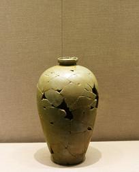 官窑青釉梅瓶