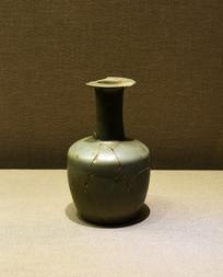 官窑青釉盘口长颈瓶