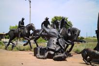 美国俄克拉荷马城雕塑作品