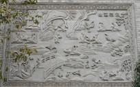 山水小桥墙面雕刻