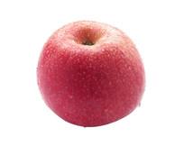 白背景上的红苹果