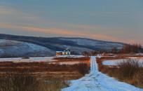 大兴安岭林区冬季冰雪路面
