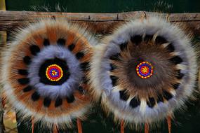 鄂温克族手工艺品椅垫